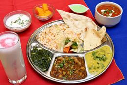 Lunch thali vegetarian - indian vegetarian lunch